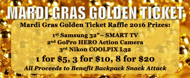 Mardi Gras Golden Ticket