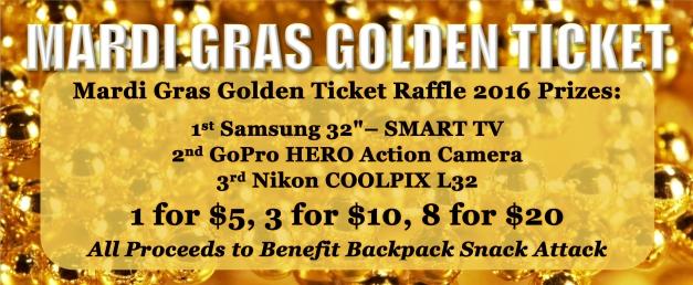 Mardi Gras Golden Ticket